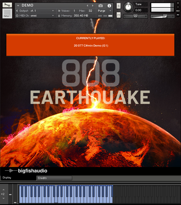 808 Earthquake GUI