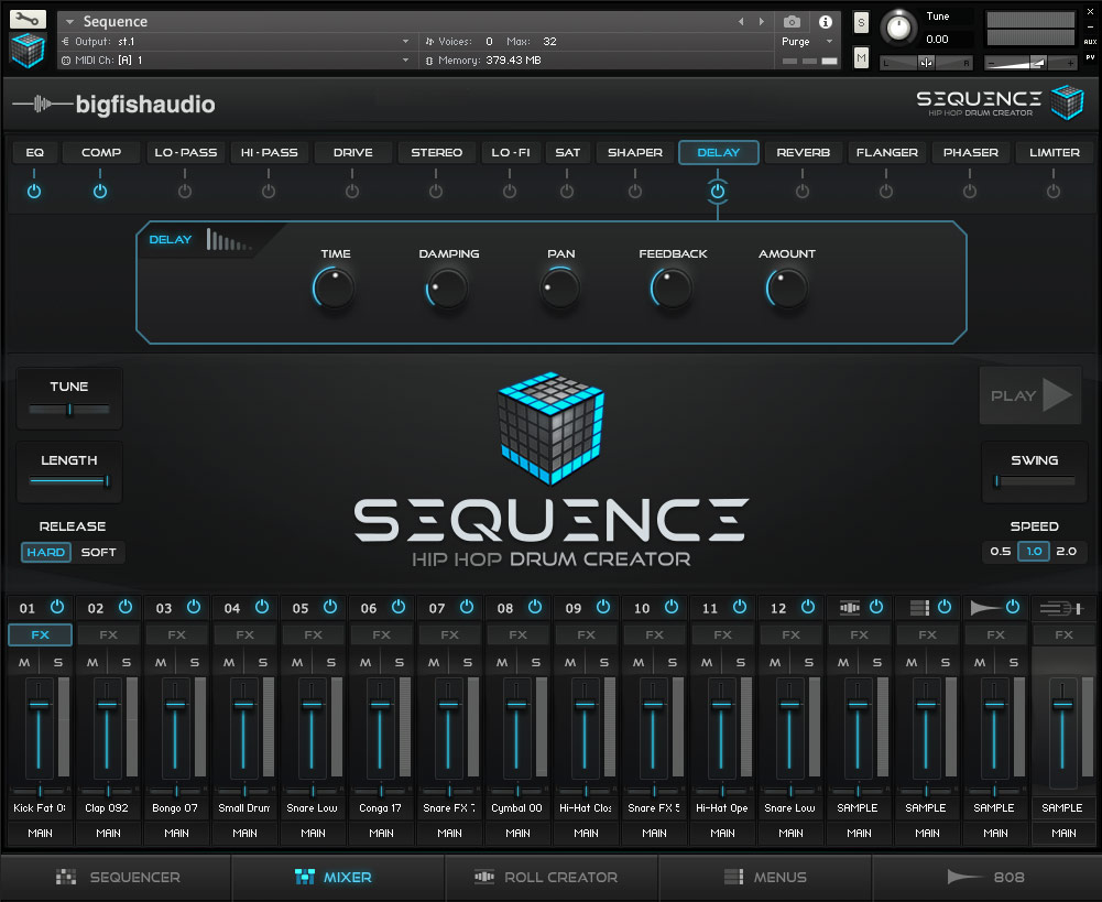 Sequence: Hip Hop Beat Creator Big Fish Audio GUI 2