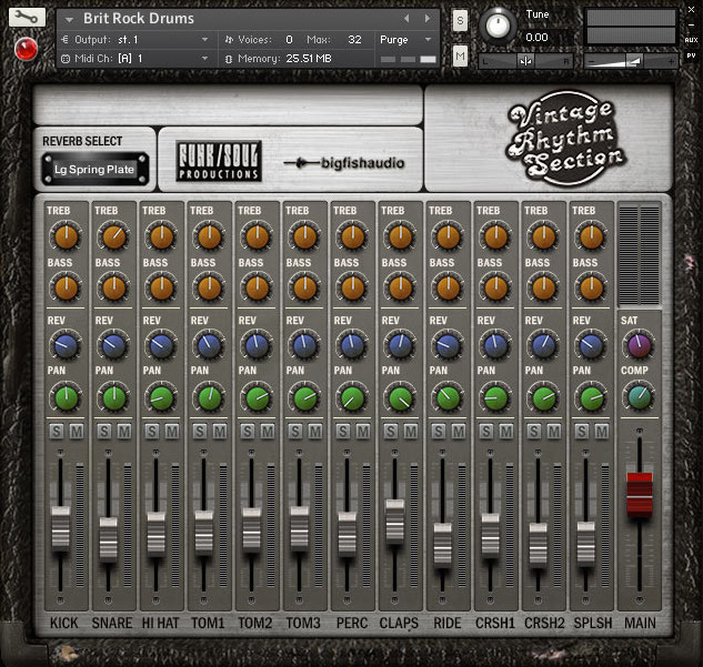 Vintage Rhythm Section GUI 1