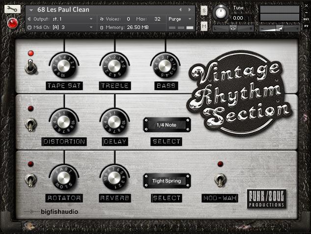 Vintage Rhythm Section GUI 1