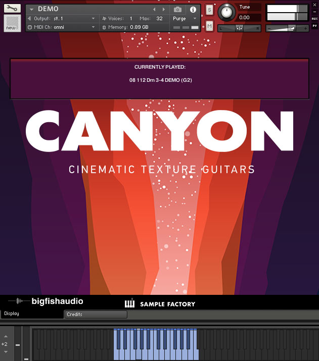 Canyon GUI