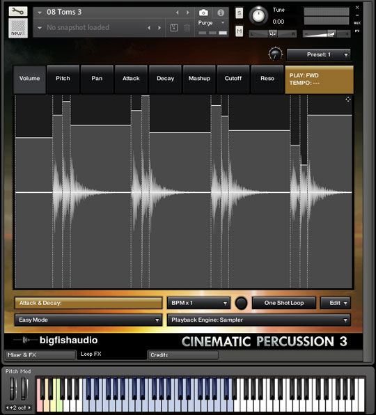 Cinematic Percussion 3 GUI