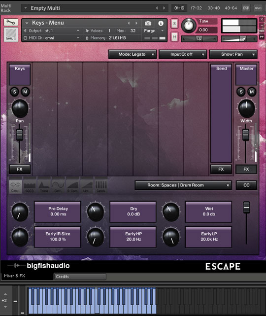 Escape: Modern Pop & EDM GUI