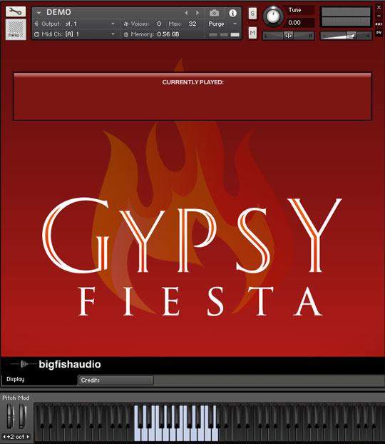 Gypsy Fiesta GUI