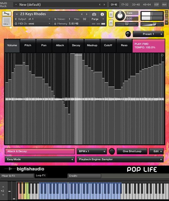 Pop Life: Modern Pop Hits GUI