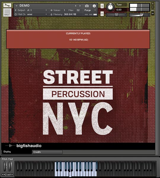 Street Percussion NYC GUI