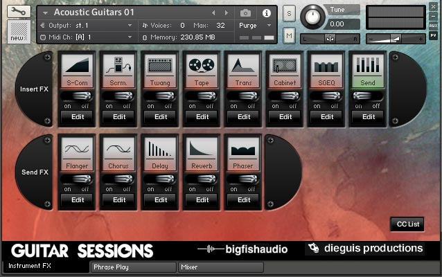 Guitar Sessions GUI