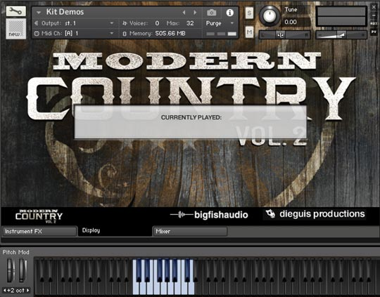Modern Country Vol 2 GUI
